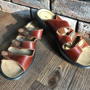 ROMIKA Brown Leather Comfort Sandals Shoes ~sz 37